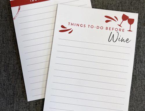 Design – Wine Notepads